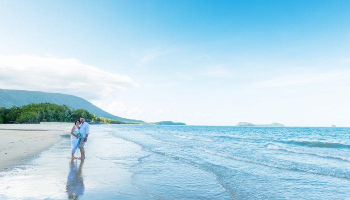 Cairns Beach Wedding Photographer at Kewarra Beach Resort