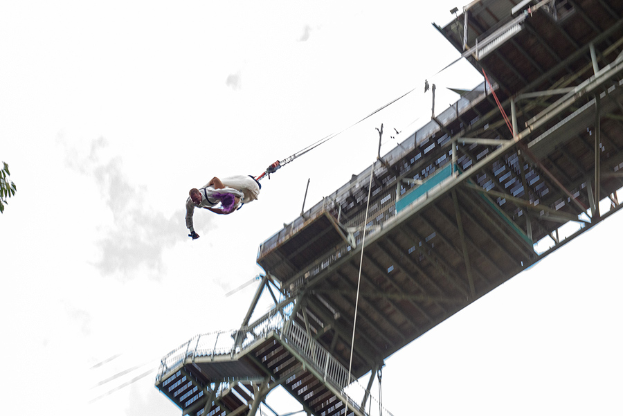bungy jump wedding