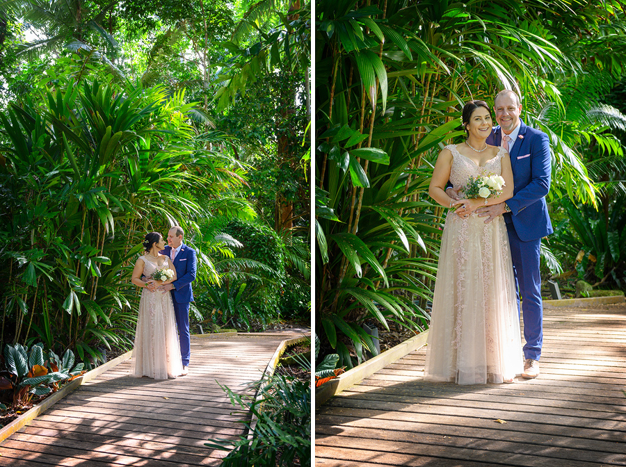 garden wedding cairns