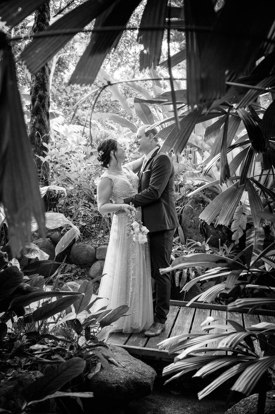 botanic gardens wedding photos