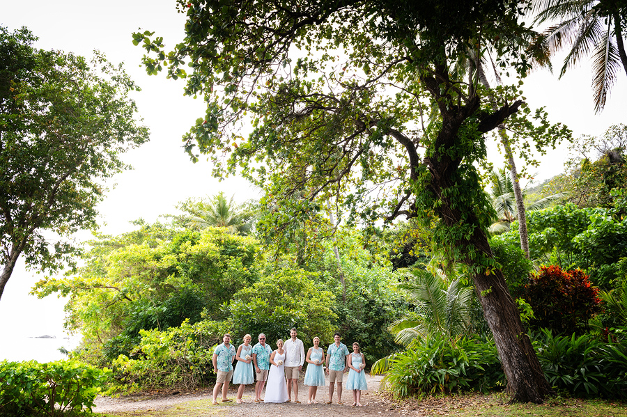 Fitzroy Island bridal party