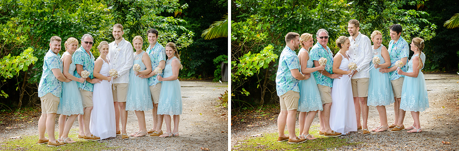 Fitzroy Island wedding fun