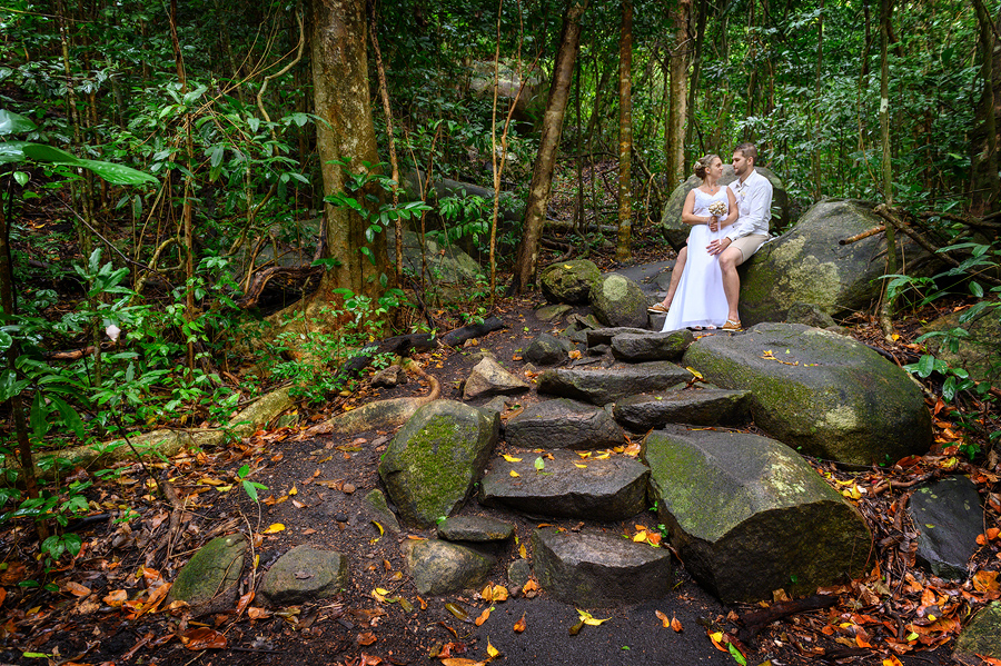 Fitzroy Island rainforest wedding