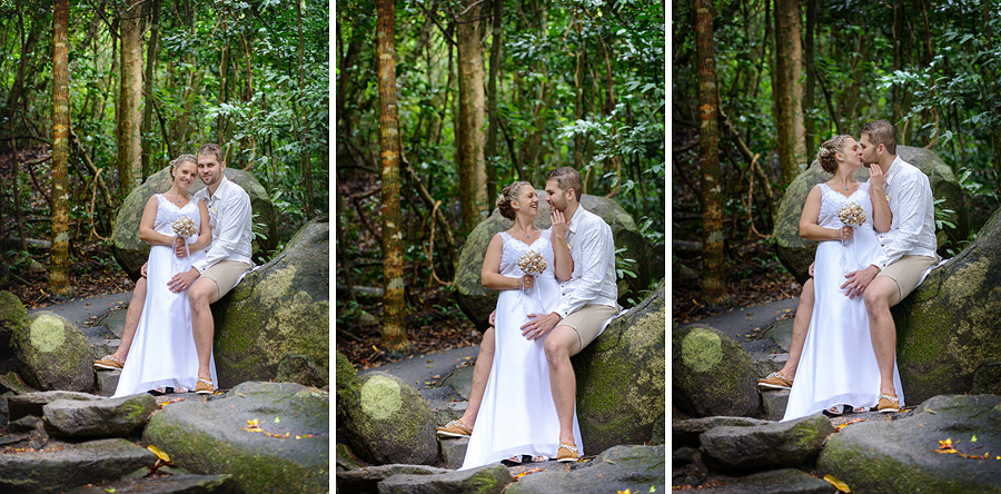 Fitzroy Island rainforest wedding photos