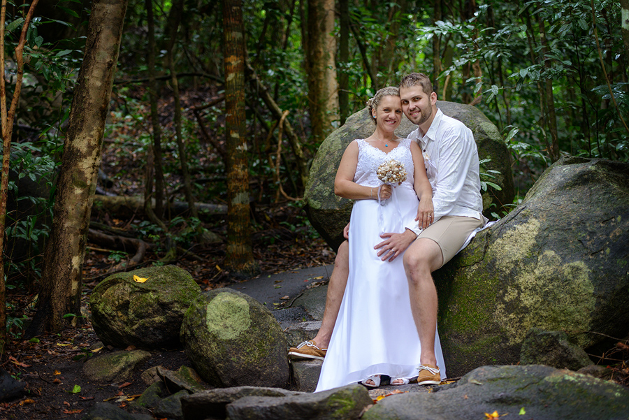 Fitzroy Island wedding in the rainforest