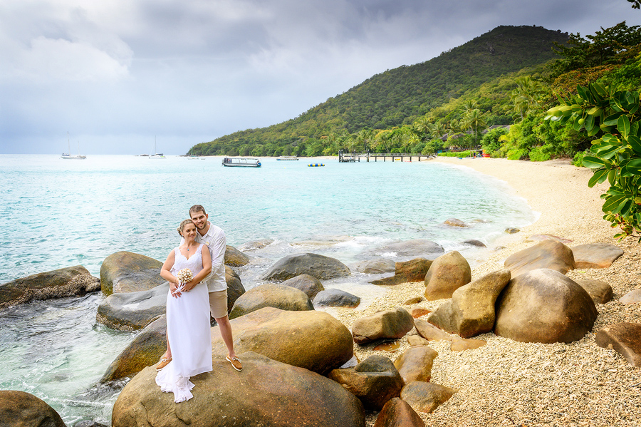 Fitzroy Island beach wedding photography