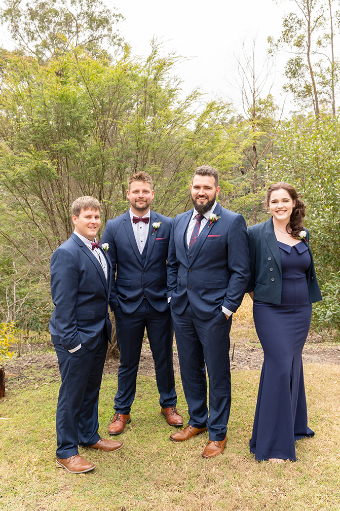 Herberton wedding bridal party
