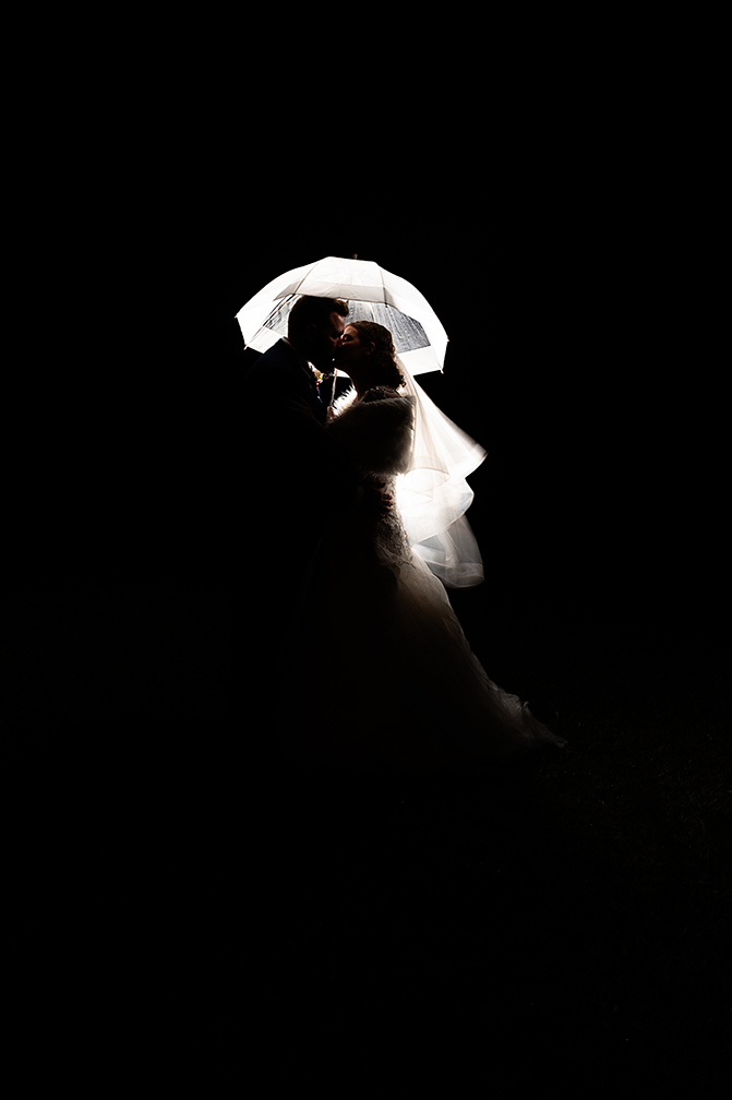 Night time wedding photos
