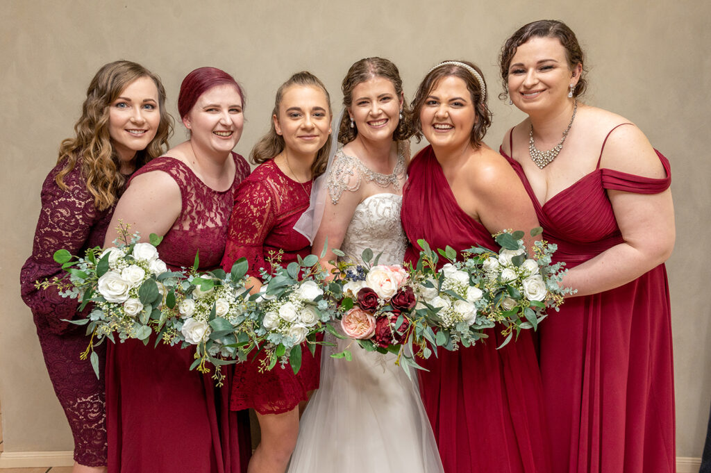 Atherton wedding bridal party
