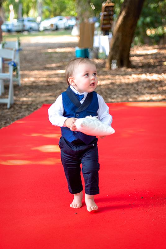Cute wedding page boy Cairns wedding
