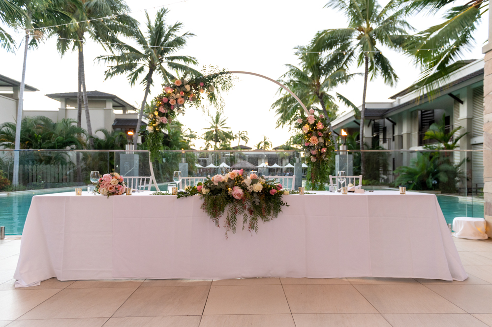 wedding venue set up