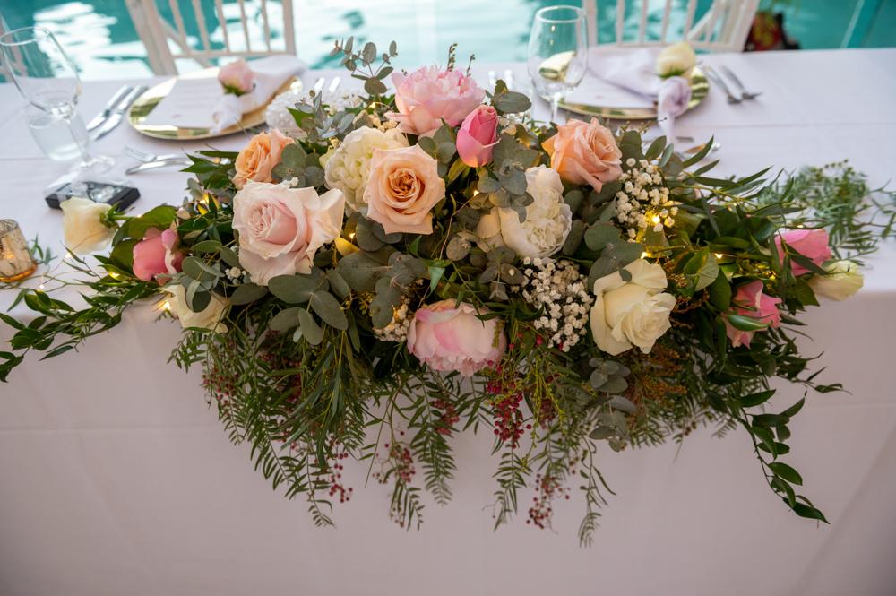 wedding flowers table